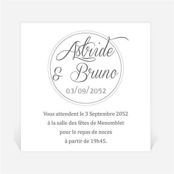 Carton d'invitation mariage Inscription sur photo réf.N3001224