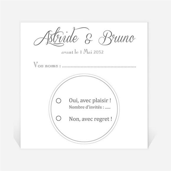 Carton réponse mariage Inscription sur photo réf.N3001225