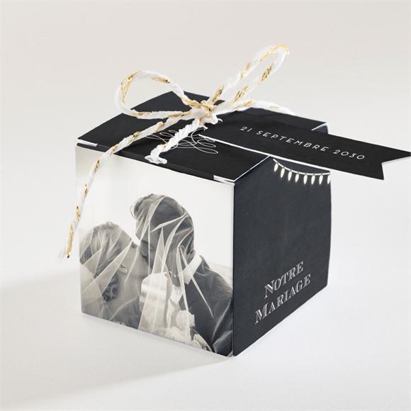 Boîte de dragées mariage Tendance ardoise réf.N34049