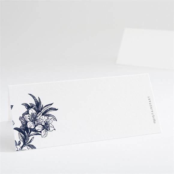 Marque-place mariage Gravure bleu marine réf.N440605