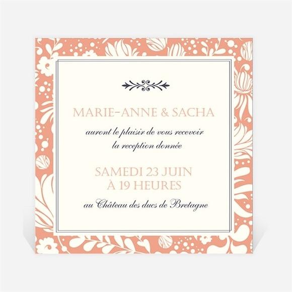 Carton d'invitation mariage Liberty réf.N3001240