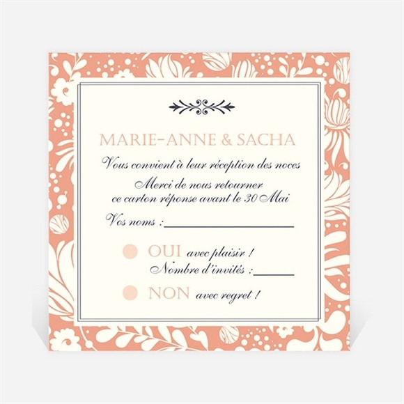 Carton réponse mariage Liberty réf.N3001241