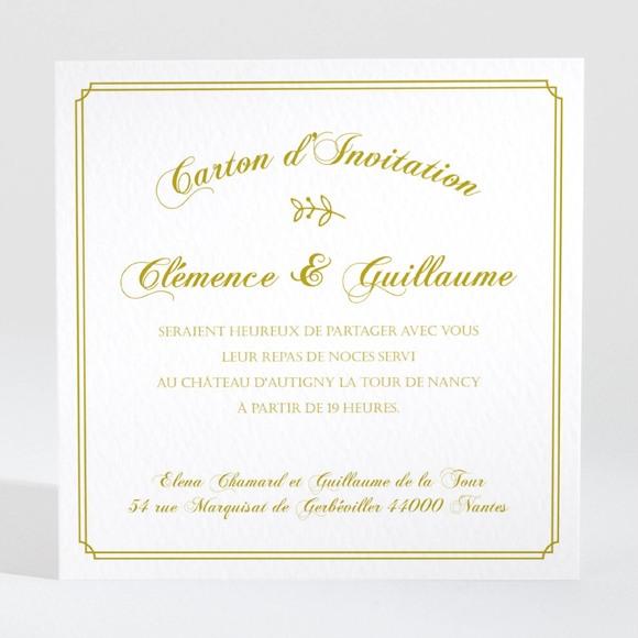 Carton d'invitation mariage Classique réf.N3001243