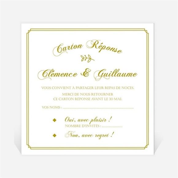 Carton réponse mariage Classique réf.N3001244