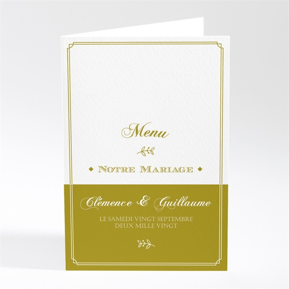 Menu mariage Classique réf.N401750