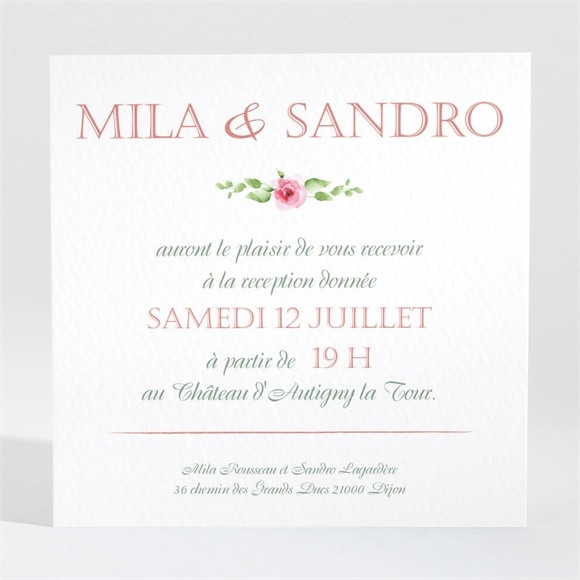 Carton d'invitation mariage Annonce champetre réf.N3001251