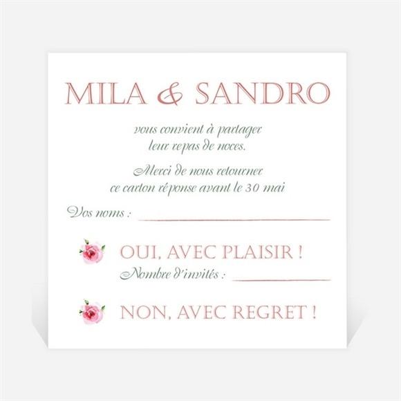 Carton réponse mariage Annonce champetre réf.N3001252