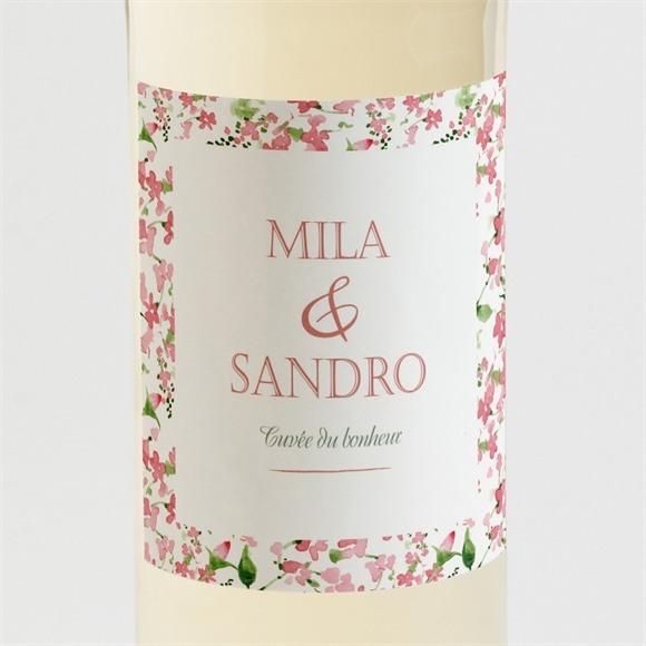 Etiquette de bouteille mariage Annonce champetre réf.N3001253