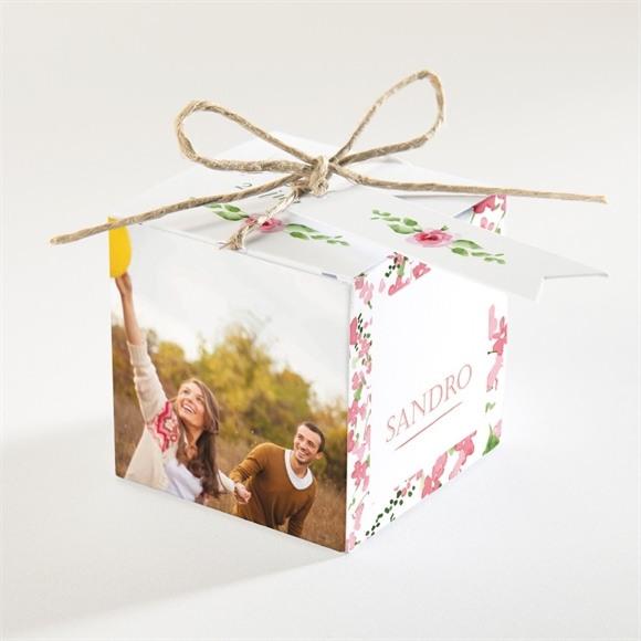 Boîte de dragées mariage Annonce champetre réf.N34056