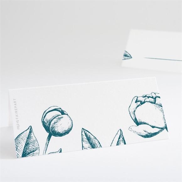 Marque-place mariage Gravure vert émeraude réf.N440612