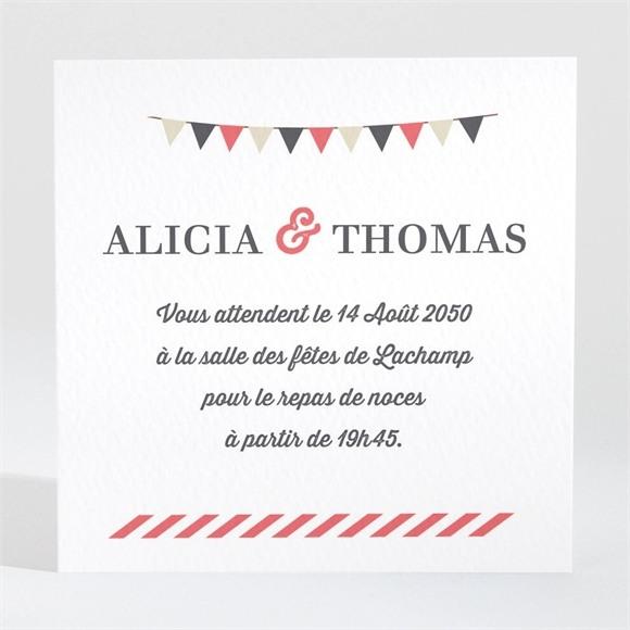 Carton d'invitation mariage Fanions de Bal réf.N3001264