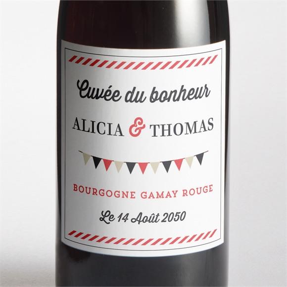 Etiquette de bouteille mariage Fanions de Bal réf.N3001266