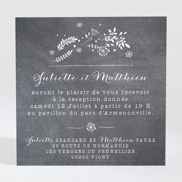 Carton d'invitation mariage Champêtre sur ardoise réf.N3001270