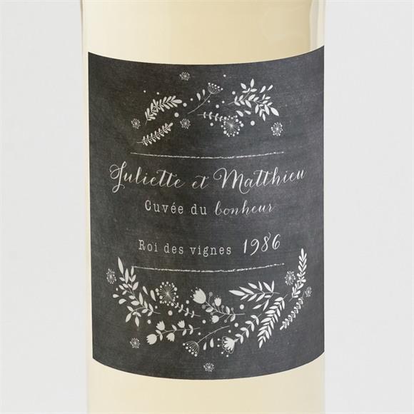Etiquette de bouteille mariage Champêtre sur ardoise réf.N3001272