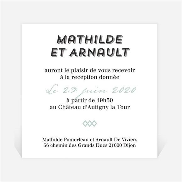 Carton d'invitation mariage Pop Art réf.N3001267