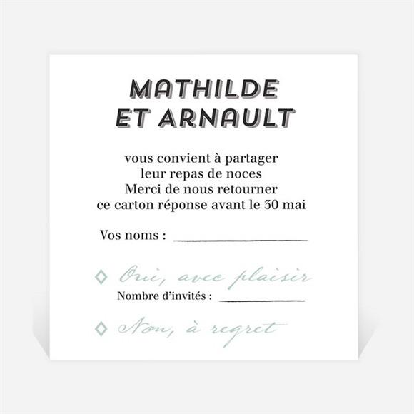Carton réponse mariage Pop Art réf.N3001268
