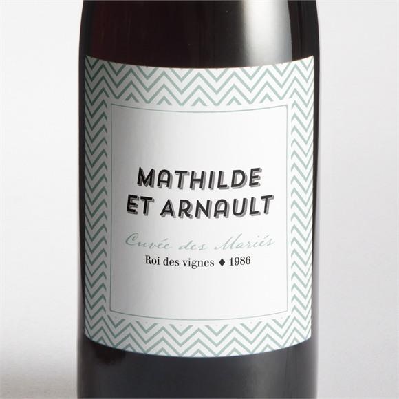 Etiquette de bouteille mariage Pop Art réf.N3001269