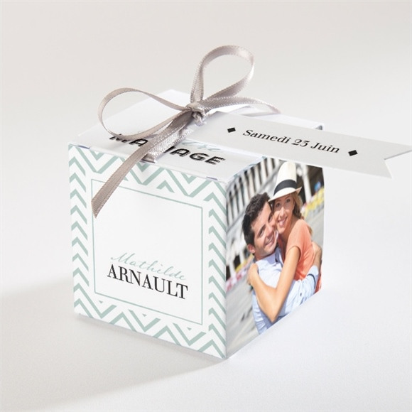 Boîte de dragées mariage Pop Art réf.N34061