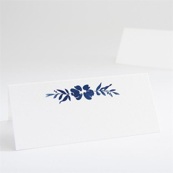 Marque-place mariage Aquarelle bleue réf.N440619
