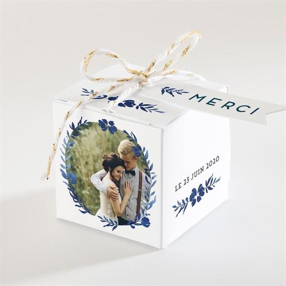 Boîte de dragées mariage Aquarelle bleue réf.N34064