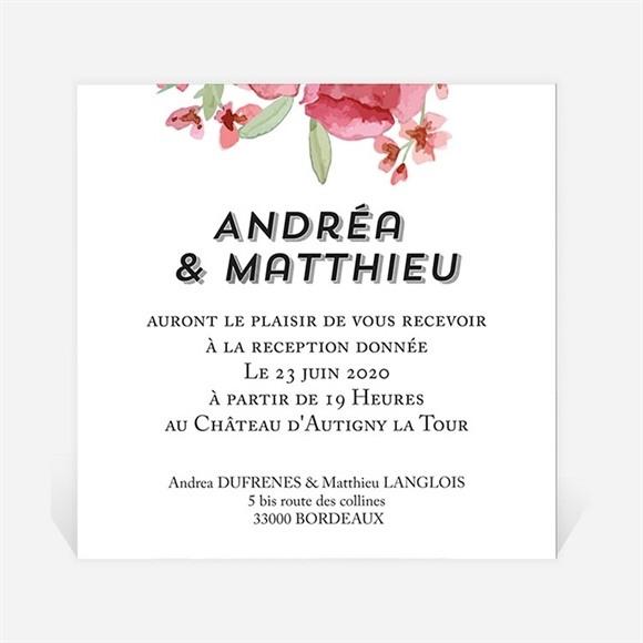 Carton d'invitation mariage Farandole végétale réf.N3001279