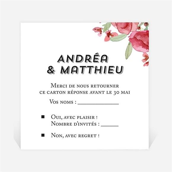 Carton réponse mariage Farandole végétale réf.N3001280