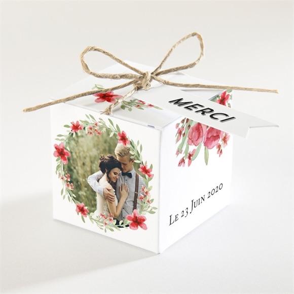 Boîte de dragées mariage Farandole végétale réf.N34065