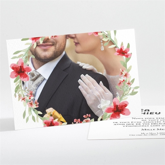 Remerciement mariage Farandole végétale réf.N111169