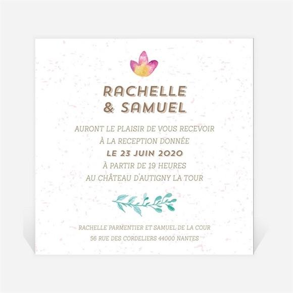 Carton d'invitation mariage Couronne printanière réf.N3001282