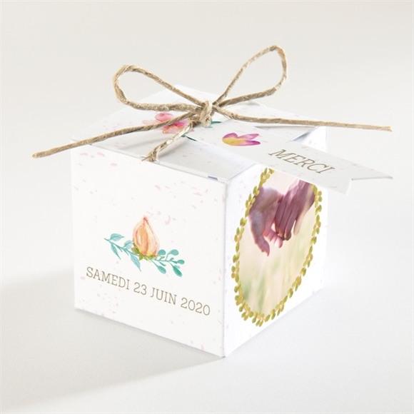 Boîte de dragées mariage Couronne printanière réf.N34066