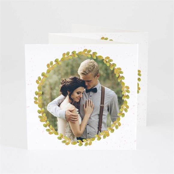 Remerciement mariage Couronne printanière réf.N83047