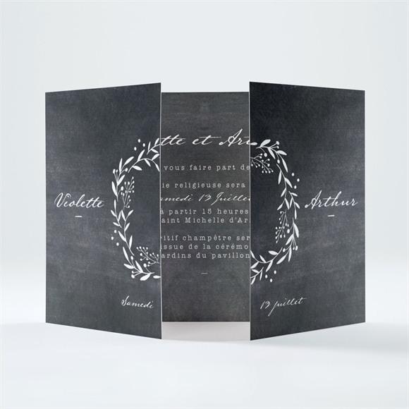 Faire-part mariage Gravure sur ardoise réf.N70163