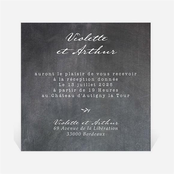 Carton d'invitation mariage Gravure sur ardoise réf.N3001285