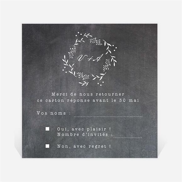 Carton réponse mariage Gravure sur ardoise réf.N3001286