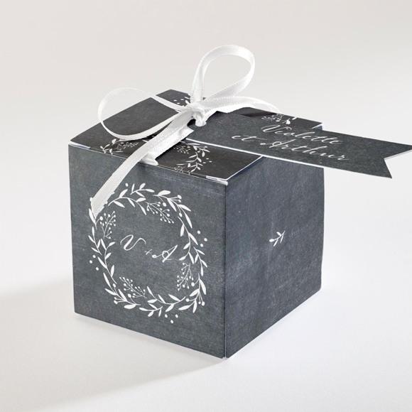 Boîte de dragées mariage Gravure sur ardoise réf.N34067