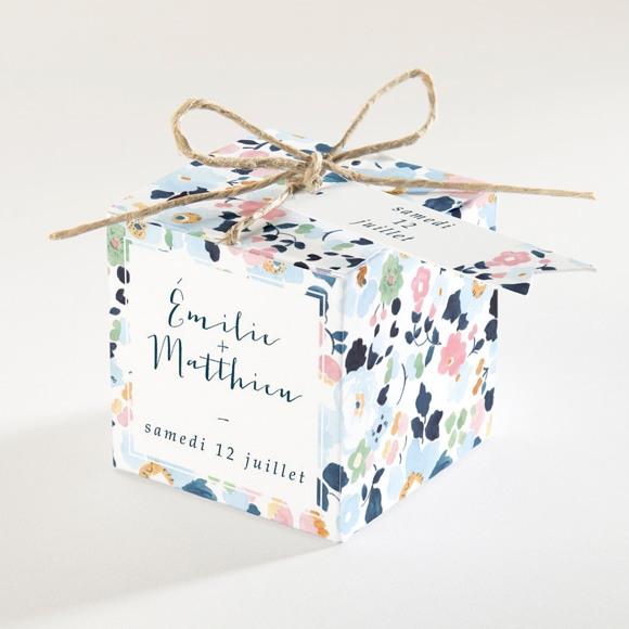 Boîte de dragées mariage Liberty chic réf.N34068