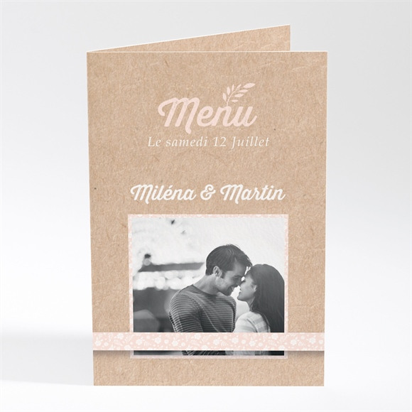 Menu mariage Kraft multi photos réf.N401765