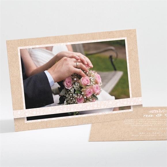 Remerciement mariage Kraft multi photos réf.N111173
