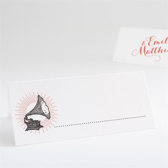 Marque-place mariage Musique vintage réf.N440625