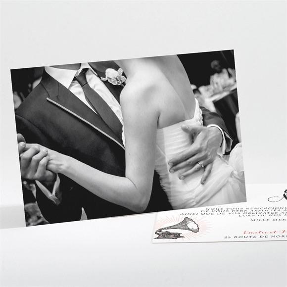 Remerciement mariage Musique vintage réf.N111174