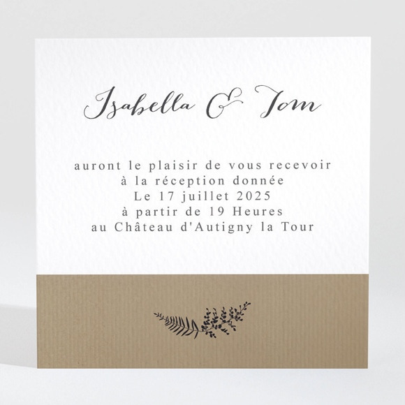 Carton d'invitation mariage Amour toujours réf.N3001297