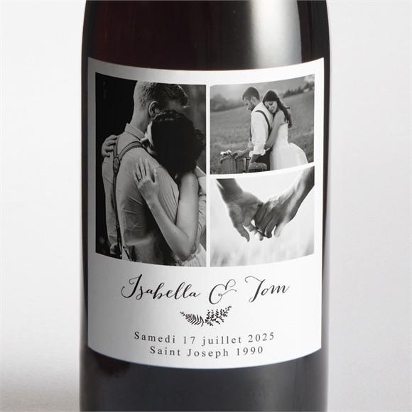 Etiquette de bouteille mariage Amour toujours réf.N3001299