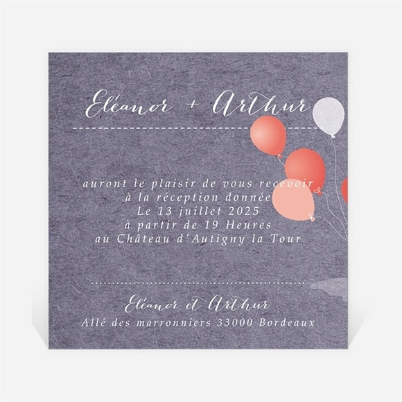 Carton d'invitation mariage Voiture classique réf.N3001300