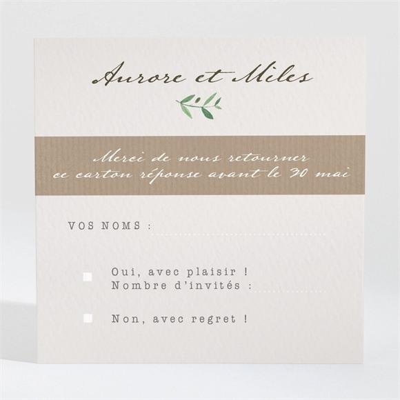 Carton réponse mariage Ronde de bonheur réf.N3001304