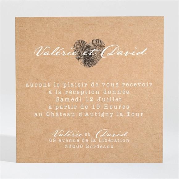 Carton d'invitation mariage Coeur croisé réf.N3001309