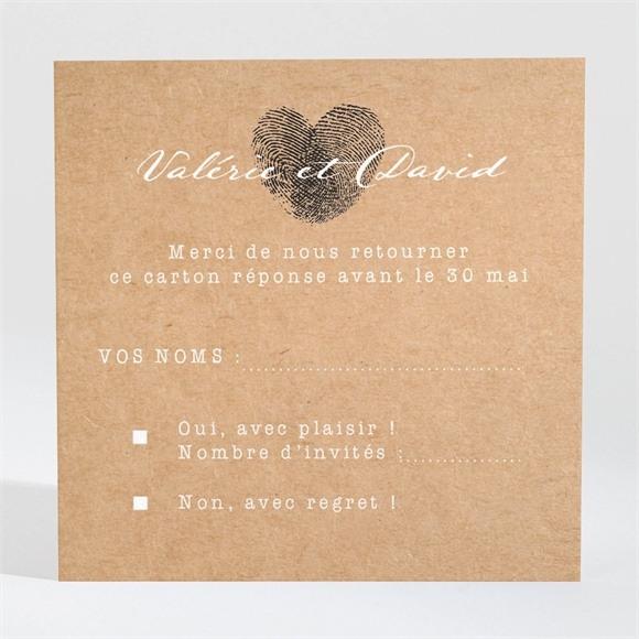 Carton réponse mariage Coeur croisé réf.N3001310