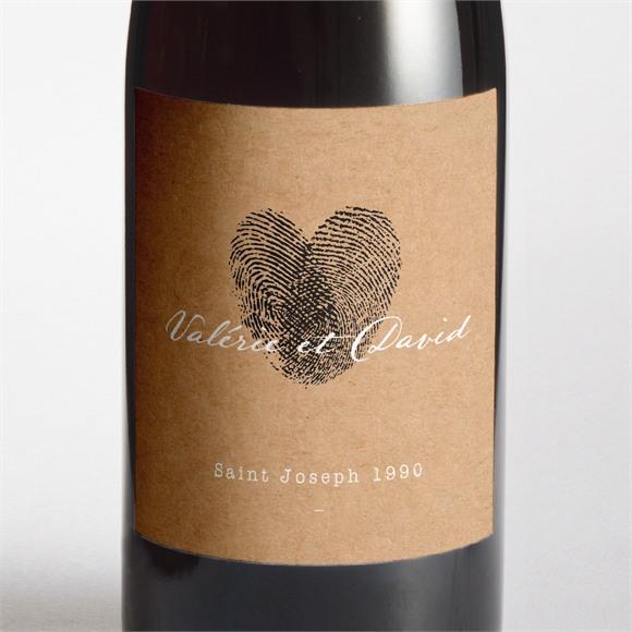 Etiquette de bouteille mariage Coeur croisé réf.N3001311