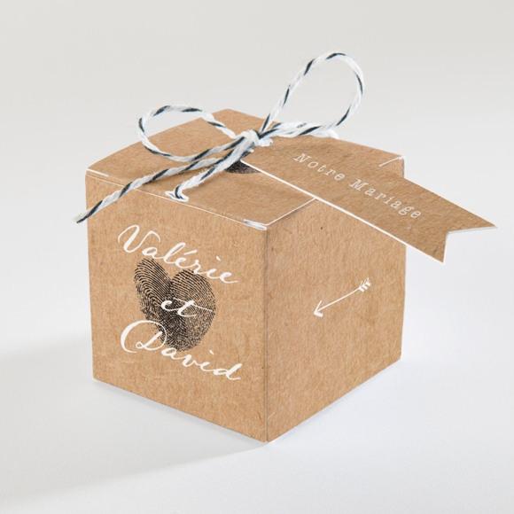 Boîte de dragées mariage Coeur croisé réf.N34075