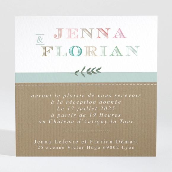Carton d'invitation mariage Naturel réf.N3001315
