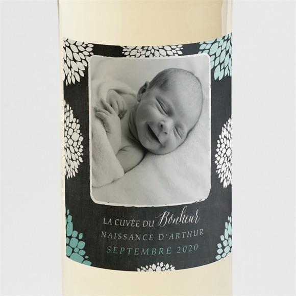Etiquette de bouteille naissance Ardoise vintage original réf.N3001319